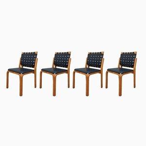 Chaises No. 612 par Alvar Aalto pour Artek, 1940s, Set de 4