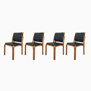 Sedie nr. 612 di Alvar Aalto per Artek, anni '40, set di 4