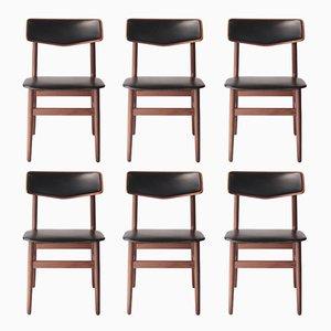 Schwedische Stühle aus Palisander, 1950er, 6er Set