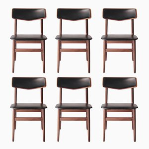 Swedish Rosewood Chairs, 1950s, Set of 6