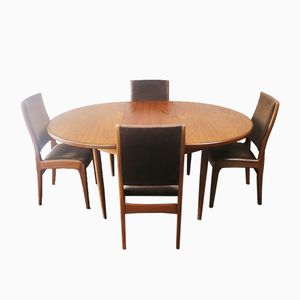 Mid-Century Dining Table and Chairs from G-Plan, 1970s