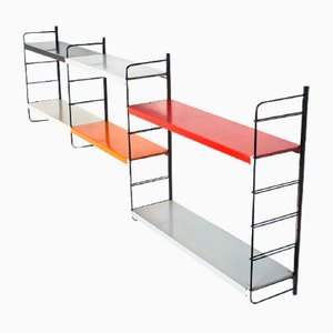 Mid-Century Dutch Modular Metal Wall Unit by Tjerk Reijenga for Pilastro