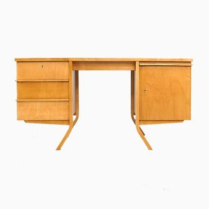 Birch Series EB04 Desk by Cees Braakman for Pastoe, 1950s