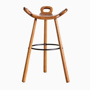 Mid-Century Swedish Beech Bar Stool, 1950s
