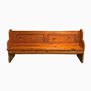 English Pine Church Bench, 1930s