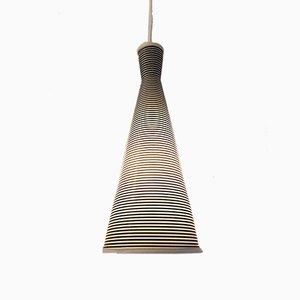 Lampada da soffitto bianca e nera di Yasha Heifetz per Rotaflex, Francia, anni '50