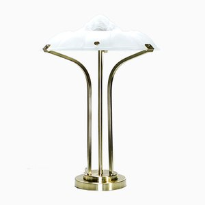 Lámpara de vidrio soplado y latón, años 40