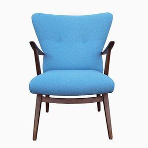 Poltrona vintage blu, anni '50