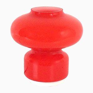 Orange & rote Tischlampe aus Muranoglas von VeArt, 1970er
