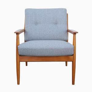Light Gray Cherry Armchair, 1960s