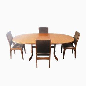 Großer Esstisch und Stühle von G-Plan, 1970er