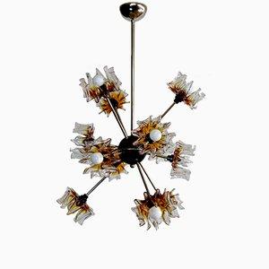 Sputnik Muranoglas Lampe von Mazzega, 1970er