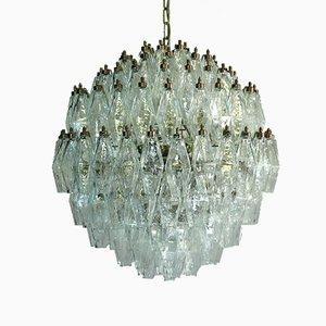 Lámpara de araña esférica de Murano Poliedri, años 80