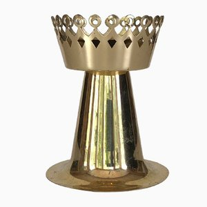 Vintage L159 Brass Candleholder by Hans-Agne Jakobsson