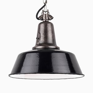 Vintage Industrial Black Cast Iron Pendant Lamp