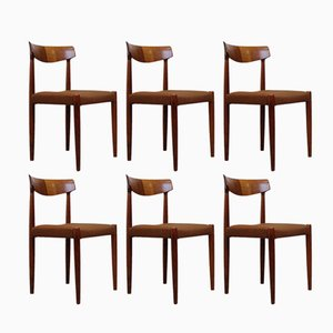 Mid-Century Rosewood Dining Chairs, Set of 6