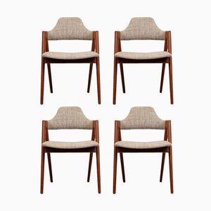 Teak Compass Chairs by Kai Kristiansen for Sva Møbler, 1958, Set of 4