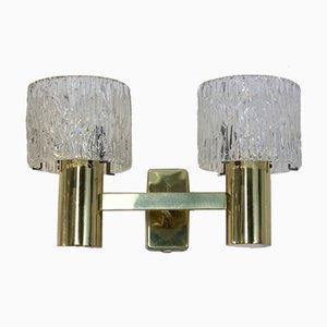 Lámparas de pared de latón, años 70. Juego de 2