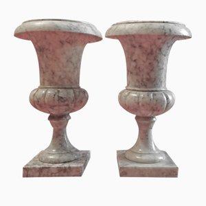 Urnes Vintage en Marbre, Set de 2