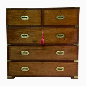 Victorian Mahogany Military No.8 Chest of Drawers, 1870s