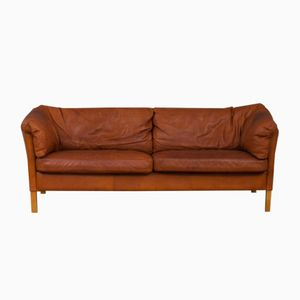 Buffalo Leather Sofa from Mogens Hansen, 1970s