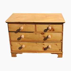 Small Antique Pine Chest of Drawers, 1910s