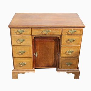 Burr Walnut Pedestal Desk with String Inlay, 1945