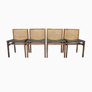 Italienische Palisander Esszimmerstühle von Tito Angoli, 1960er, 4er Set