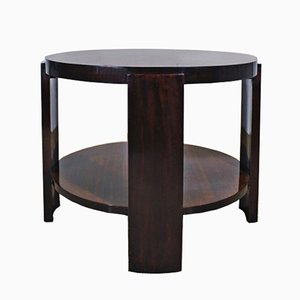 Art Deco Zebrano & Mahogany Side Table, 1930s