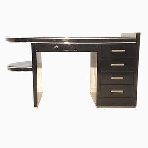 Black Art Deco Desk, 1930s
