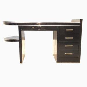 Schwarzer Art Deco Schreibtisch, 1930er
