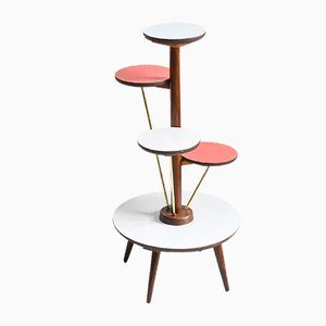 Mid-Century Five-Tier Plant Stand