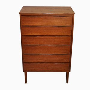 Mid-Century Modern Danish Teak Chest with 6 Drawers