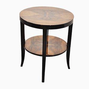 Tavolino Art Déco impiallacciato in legno di noce, anni '20