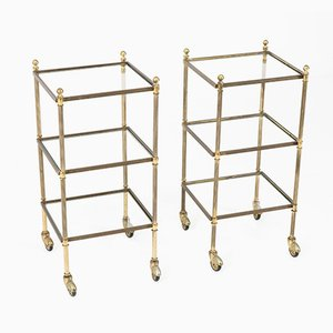 Brass Side Tables from Maison Jansen, 1950s, Set of 2
