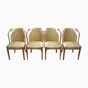 Cloudback Stühle mit Ledersitzen von Harry & Lou Epstein, 1930er, 4er Set