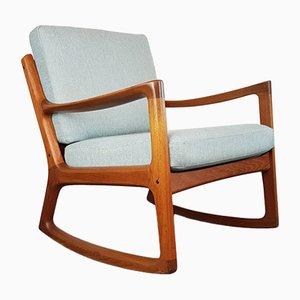 Danish Teak Rocking Chair by Ole Wanscher for France & Søn, 1960s