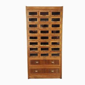 Vintage Oak Haberdashery Drawer Cabinet