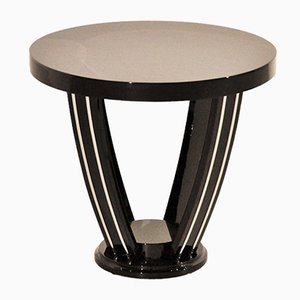 Vintage Black Side Table, 1920s
