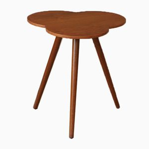 Teak Clover-Shaped Side Table, 1960s