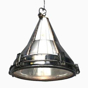 Lampe à Suspension en Acier Inoxydable par Daeyang, Corée, 1970s