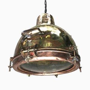 Lámpara colgante japonesa convexa con domo de vidrio de Kokosha, 1966
