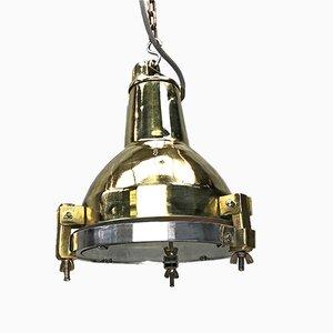 Koreanische industrielle Messing, Aluminium & Glas Lampe von Daeyang, 1970er