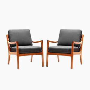 Senator Easy Chairs by Ole Wanscher for Cado, 1960s, Set of 2