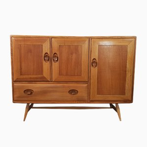 No. 3 Elm Sideboard with Beech Legs by Lucian Ercolani for Ercol, 1960s