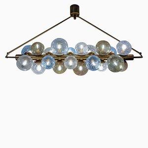 Lámpara de araña con globos de cristal de Murano de Glustin Luminaires, 2018