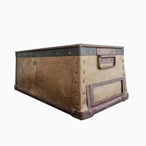 Antique Industrial Container or Magazine Holder