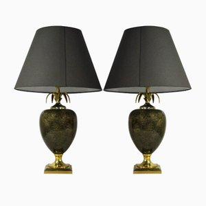 Vintage Pineapple Table Lamps from Maison Le Dauphin, 1970s, Set of 2