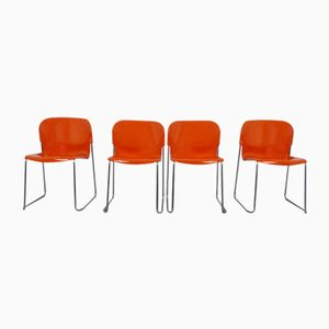 German Swing Stackable Chairs by Gerd Lange for Drabert, 1970s, Set of 4