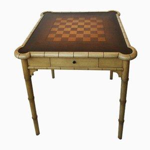 Mesa de juegos alemana vintage lacada